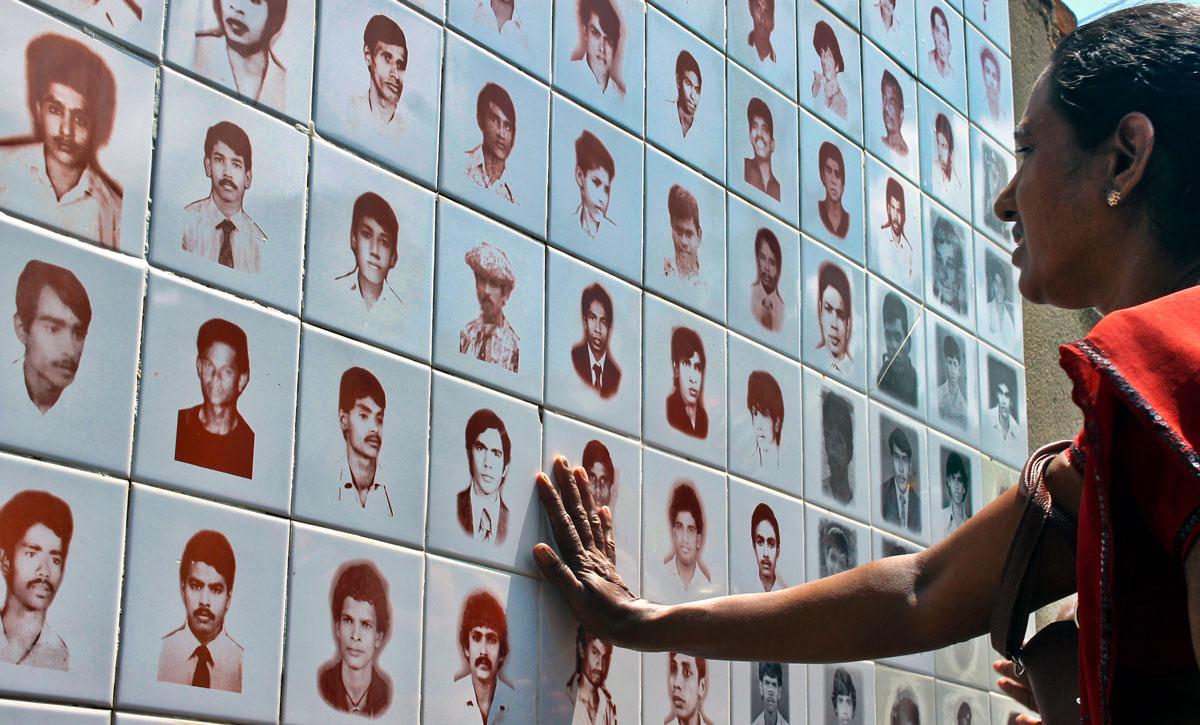 Ground Focus Mother of missing Tamil Tricomalee Sri Lanka